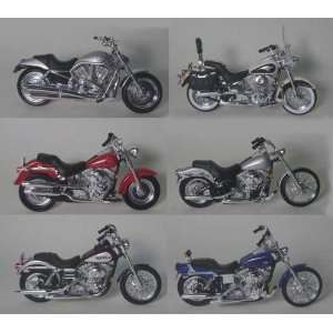 Set of 6 Maisto Die Cast Harley Davidson Motorcycles 118 scale