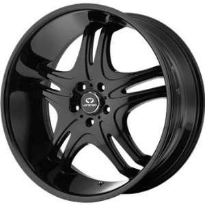Lorenzo WL031 22x10 Black Wheel / Rim 5x115 with a 18mm Offset and a