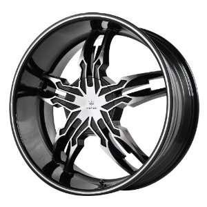 Verde Custom Wheels Thorax Black Wheel with Machined Face (20x8.5/5x4