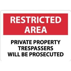 SIGNS PRIVATE PROPERTY TRESPASSERS