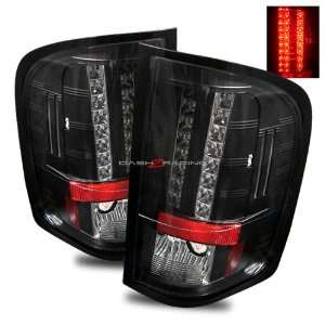 07 10 Chevy Silverado LED Tail Lights   Black Automotive