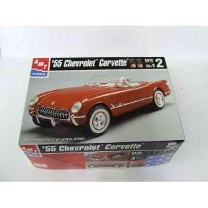 com #6210 AMT 55 Corvette 1/25 Scale Plastic Model Kit Toys & Games