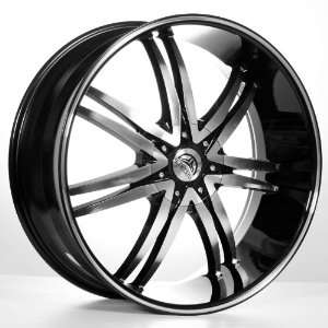 24B14 Black/Machined Wheels   Huge Size Lip   For 300C/Magnum/Charger