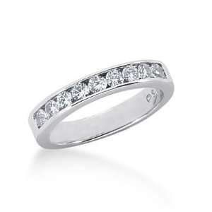 18K Gold Diamond Wedding Ring 9 Round Brilliant Diamonds 0