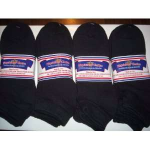 12 PAIR DIABETIC SOCKS,LOWCUT ANKLE HIGH,BLACK COLOR,SIZE