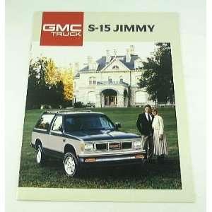 1988 88 GMC S 15 JIMMY TRUCK BROCHURE Sierra Gypsy