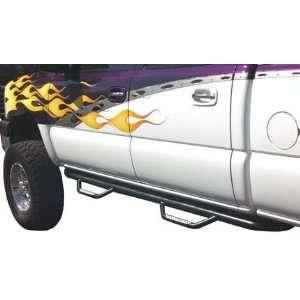 ton extended cab 4WD; Dominator II Sidesteps; black