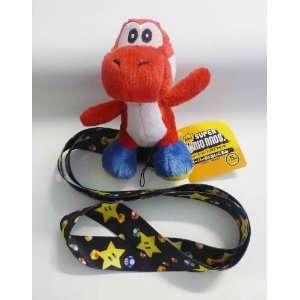 Mario Bros Yoshi Lanyard   Red Yoshi   Star Lanyard