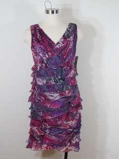 Jones New York Printed Chiffon Dress Sz 8P 8 Petite NWT $150