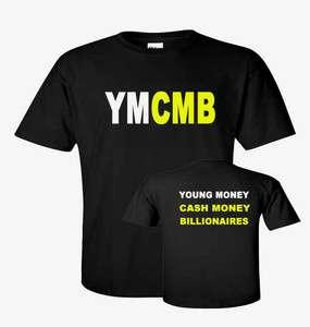 YMCMB Logo YOUNG MONEY LIL WEEZY Wayne HIP HOP RAP T shirt sizes S 5XL