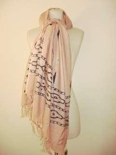 SIR ALISTAIR RAI Mauve black dusty pink Prayer Scarf love stitching