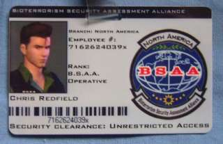 BSAA ID Card Biohazard Resident Evil North America