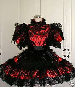 BBT VICTORIAN LACE ADULT SISSY FRENCH MAID DRESS