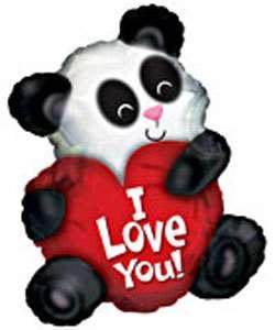 LOVE YOU PANDA VALENTINE BALLOON 26 CUDDLY CUTIE SWEET