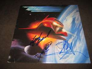 ZZ TOP SIGNED LP X3 BILLY GIBBONS AUTOGRAPHED PROOF