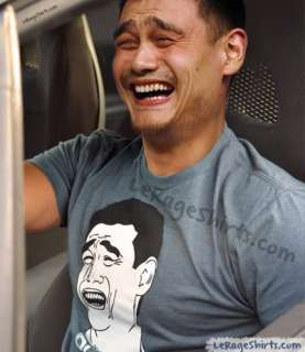 Yao ming wearing his shirt is priceless, did you ever thought you will
