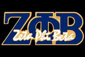 Zeta Phi Beta Royal Blue Script Letter Pin FREE SHIPPING!!!