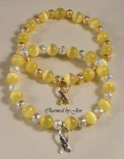 SUICIDE Awareness Stretch Bracelet w/ HOPE Charm (SS)