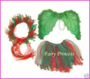 3pc Angel Wings Halo Tutu Christmas Costume Dance Favor