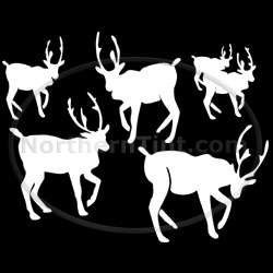 Deer hunting vinyl wall art car truck decal sticker 062