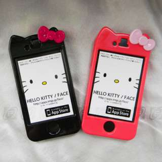 2x Hello Kitty Hard Case Cover Skin For iPhone 4 & 4S+Free Scree