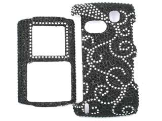 DIAMOND BLING CRYSTAL FACEPLATE CASE COVER SAMSUNG COMEBACK T559 BLACK