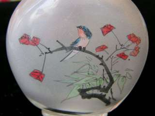 Antique Peking glass inside painted snuff bottle