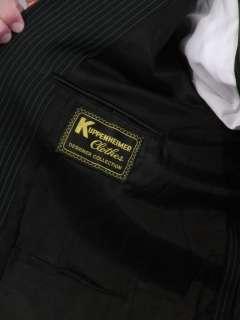 Vtg gangster 3pc suit pinstripe navy blue vest pants L