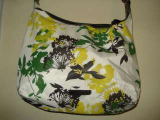Nine & Co. Crossbody purse/bag Floral, bright greens, yellows, browns
