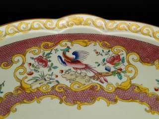 LARGE Antique Minton Porcelain Lazy Susan Table Centerpiece Serving