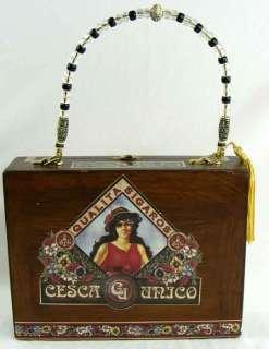 PURSE Made From WOOD CIGAR BOX Just WONDERFUL PORTUGAL ART DECO