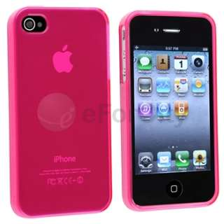 PRIVACY FILM+CABLE+TPU CASE+CAR+AC CHARGER for iPhone 4