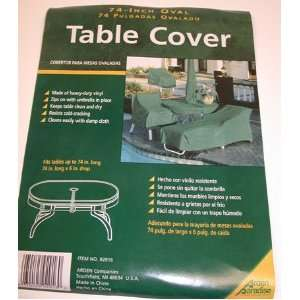 Oval Patio Table Cover ~ Green Vinyl ~ 74 X 6 SHIPPING