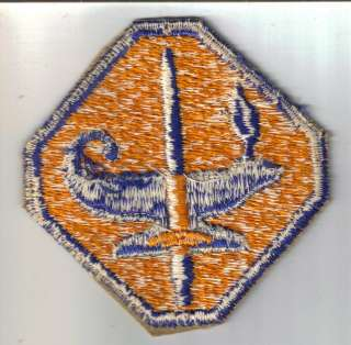WWII Military Army School Lamp of Knowledge Patch ASTP