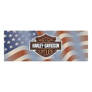 Glasscapes 60067 Harley Davidson Americana Flag Motorcycle