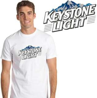 Keystone Light Beer T Shirt Sizes Small Medium Large XL 2XL 3XL 4XL