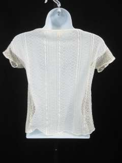 ONLY HEARTS White cotton Lace T Shirt Blouse Top Sz S