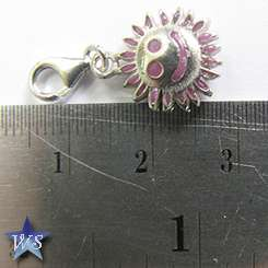 WS 925 Sterling Silver Smile Sun European Clip on Charm