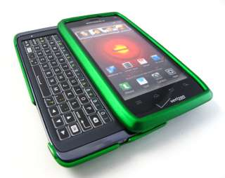 GREEN RUBBERIZED HARD SHELL SNAP ON CASE COVER MOTOROLA DROID 4 PHONE