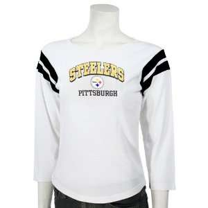 Pittsburgh Steelers Ladies White Win Feel Long Sleeve T