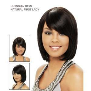 Wig 100% Indian Remi Human Hair Natural First Lady Color 1b: Beauty