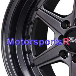 16 16x8 XXR 501 Chromium Black Rims Wheels Deep Dish 91 92 95 02 Honda