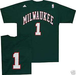 Oscar Robertson Milwaukee Bucks T Shirt jersey Medium