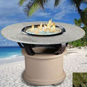 Del Mar   Sage   Fire Pit   Clear Glass   Sea Green Granite   Natural