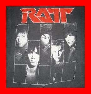 1987 VTG RATT TOUR T SHIRT @@@BROKEN IN 2 PERFECTION@@@