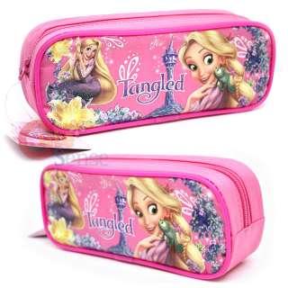 Princess Tangled Rapunzel Zippered Pencil Case / Pink Cosmetic Bag
