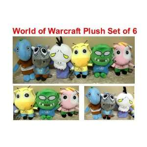 MT World of Warcraft Series Set of 6 Plush Dolls Featuring Mage