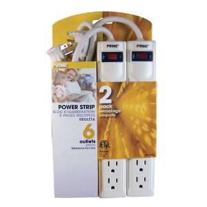 Prime Wire & Cable PB8100X2 6 Outlet Power Strips with 3