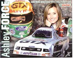 2007 ASHLEY FORCE FORD MUSTANG FUNNY CAR CASTROL GTX POSTCARD