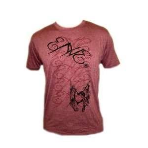 ENVE Script Mens Tattoo Generation Sheer Cotton Red T